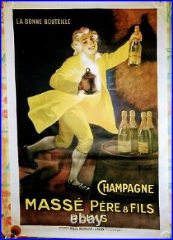 Affiche ancienne Champagne