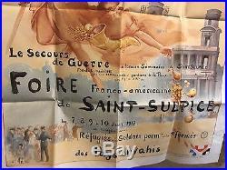 Affiche ancienne Foire De St Sulpice 1917