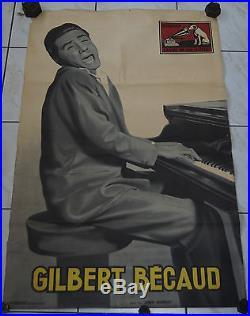 Affiche ancienne Gilbert Becaud