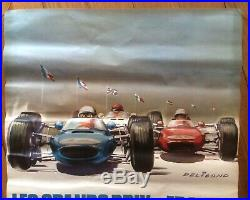 Affiche ancienne Grands Prix de France Le Mans par Beligond