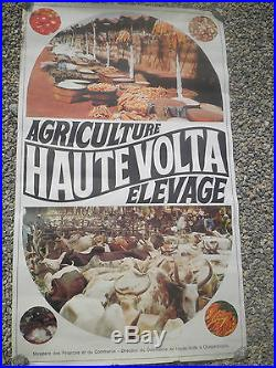 Affiche ancienne HAUTE VOLTA office du Tourisme Ouagadougou 4- pts frais d'envoi