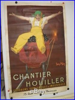 Affiche ancienne Jean d ylen Chantier Houillier
