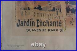 Affiche ancienne Jules Cheret vers 1889 gravure polychrome