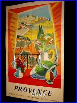 Affiche ancienne LA PROVENCE s. N. C. F 1959