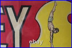 Affiche ancienne, Louis Galice, Les 3 Misley, acrobates, avec cadre
