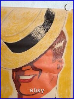 Affiche ancienne Maurice Chevalier par Kiffer en lithographie