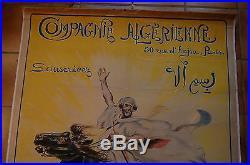 Affiche ancienne Maurice ROMBERG compagnie ALgèrienne 1918 entoilée