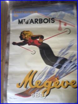 Affiche ancienne Megeve Mont D'arbois Kama