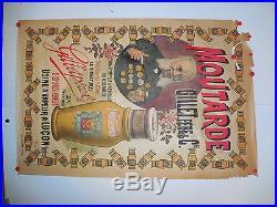Affiche ancienne Moutarde Gillet A Lucon Vendee 1895 par Michele pot ancien