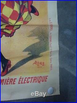 Affiche ancienne NO COPY Fête de Neuilly s/ Seine (Neu-Neu) 1900 Signée MICHELE