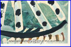 Affiche ancienne PICASSO Grav. Litho Henri Deschamps Mourlot Imp. 73