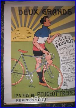 Affiche ancienne Peugeot Mich