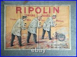 Affiche ancienne RIPOLIN Peinture E. VAVASSEUR