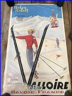 Affiche ancienne Ski