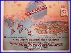 Affiche ancienne Société Générale des Tuileries de Marseille RARE