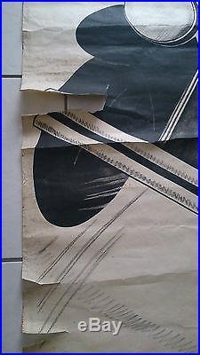Affiche ancienne automobile PEUGEOT SIX 12 COND INT 5 PL 4 VIT 39800 FR