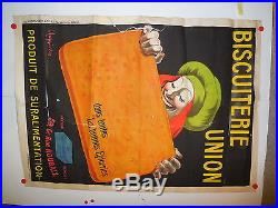 Affiche ancienne biscuiterie de l Union par Cappiello 1930
