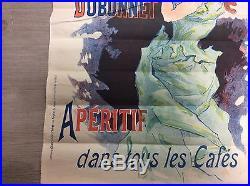 Affiche ancienne cheuret quinquina dubonnet 60cm /41.5cm