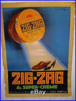 Affiche ancienne cirage ZIG ZAG (ref 16)