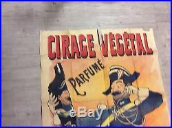 Affiche ancienne cirage vegetal rare 1.88m/0.91m