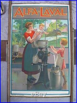 Affiche ancienne écrémeuses ALPHA-LAVAL