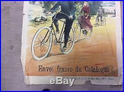 Affiche ancienne cycle dupressoir rare 82cm/60cm