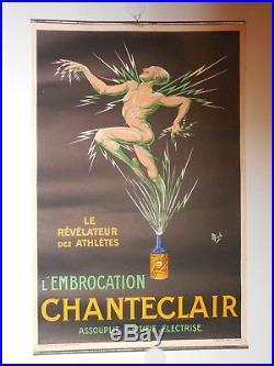Affiche ancienne de Mich athlete course a pied produit Chanteclaire dopant