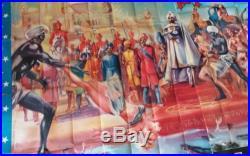Affiche ancienne de cirque BOUGLIONE, La perle du BENGALE, 150x220 cm