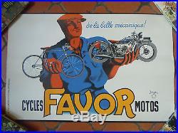 Affiche ancienne- old poster- moto ancienne-Favor old motor-bike