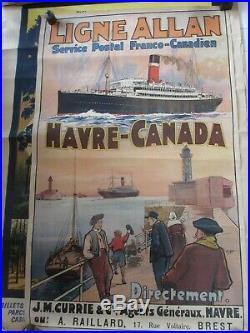 Affiche ancienne originale 1914-1920