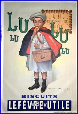 Affiche ancienne originale LU signée Firmin Bouisset datée 1897