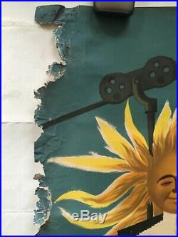 Affiche ancienne originale Le Soleil fait du ski en France