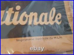 Affiche ancienne originale Mouvement Libération Nationale 1944. PG BIEP