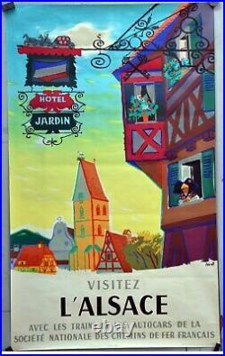 Affiche ancienne originale de 1956 Par ABEL. 99 x 60 cm