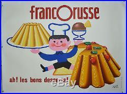 Affiche ancienne originale entoilée 1963- FRANCORUSSE par Hervé MORVAN