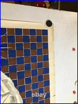 Affiche ancienne pensements croix soleil infirmiere pharmacie Paris Cappiello