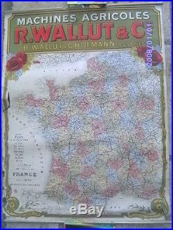 Affiche ancienne publicitaire pub Art nouveau MACHINE AGRICOLE WALLUT HOFMAN
