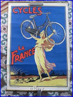 Affiche ancienne vélo ancien cycle la france H MOREL GUILLAUME HUOT