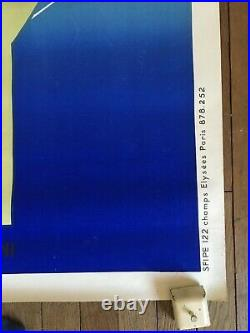 Affiche ancienne vintage PATHÉ MARCONI a l'ecoute du monde signée EVEN A