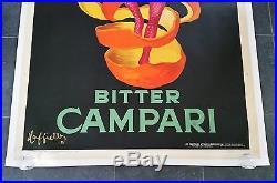 Affiche ancienne vintage poster CAPPIELLO Bitter Campari 2m x 1m40