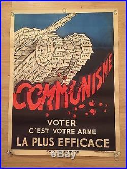 Affiche anti-communiste Paix et Liberté de la Guerre Froide