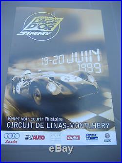 Affiche-automobile circuit LINAS-MONTLHERY 19/20 juin 1999 grand prix de