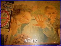 Affiche carton lu pub lefevre utile cromo 1904