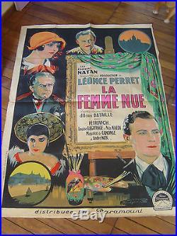 Affiche cinema LA FEMME NUE