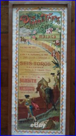 Affiche corrida de toros de 1907