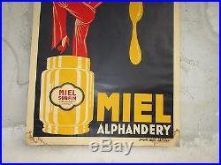 Affiche d'epoque MIEL ALPHANDERY signé G. Gorde 1932 / 80 cm x 120