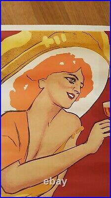 Affiche d'époque Marcello Dudovich Vermouth Bianco Martini Rossi Torino 1960