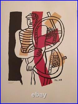 Affiche d'exposition Fernand Léger Le Travail 1948
