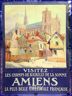 Affiche de Tourisme Picardie Cathédrale d'AMIENS. Julien Lacaze