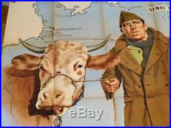 Affiche de cinema ancienne La Vache et le Prisonier avec Fernandel Litho